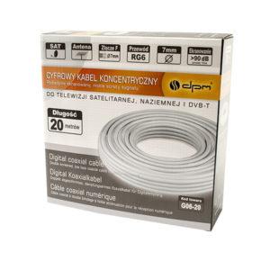 Ομοαξονικό καλώδιο RG6 1mm CCA 20m G06-20 | Ήχου & Εικόνας | elabstore.gr