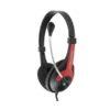 Ακουστικό με μικρόφωνο κόκκινο EH158R | Περιφερειακά | elabstore.gr