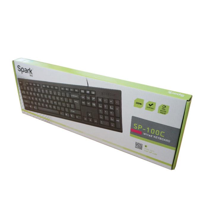Πληκτρολόγιο USB Μαύρο 108Keys SP-100C | Περιφερειακά | elabstore.gr