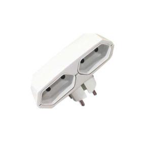 Αντάπτορας Ρεύματος 2xEuro COM | Ηλεκτρολογικά | elabstore.gr