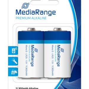MEDIARANGE Premium αλκαλικές μπαταρίες Mono D LR20, 1.5V, 2τμχ   Μπαταρίες   elabstore.gr