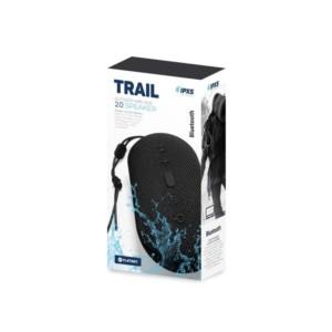 Φορητό Ηχείο Bluetooth 2x5W Waterproff IPX5 & True Wireless Srereo TRAIL Μαύρο PMG12B | Περιφερειακά | elabstore.gr