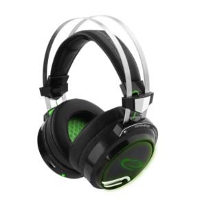 Bloodhunter Ακουστικό 50mm με μικρόφωνο 7.1 w/Vibration gaming μαύρο-πράσινο EGH9000   Gaming   elabstore.gr