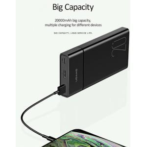 USAMS power bank PB14 20000mAh, 2x output, 2.1A, μαύρο | Αξεσουάρ κινητών | elabstore.gr
