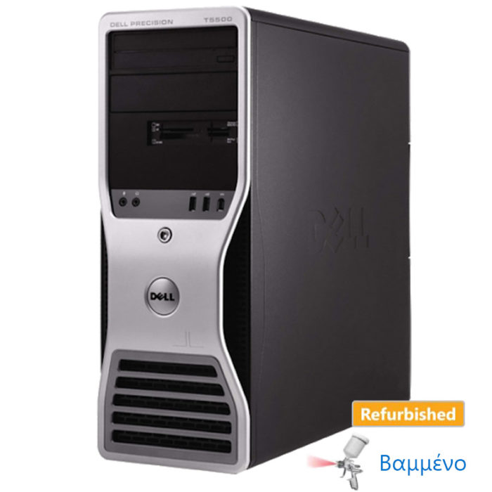 Dell T5500 Tower 2xXeon E5620/24GB DDR3/1TB/ATI 1GB/DVD Grade A Workstation Ref. PC | Refurbished | elabstore.gr