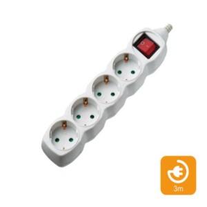 Πολύπριζα 4θ Με Διακόπτη 3M,3g1,5 COM | Ηλεκτρολογικά | elabstore.gr
