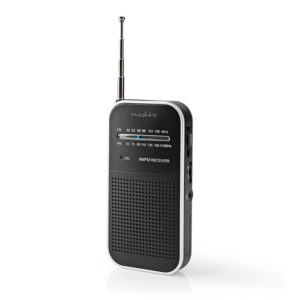 NEDIS RDFM1110SI FM / AM Radio 1.5 W Pocket Size Silver / Black | ΕΙΚΟΝΑ / ΗΧΟΣ | elabstore.gr
