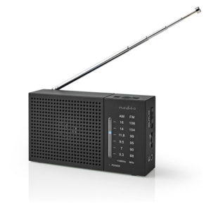 NEDIS RDFM1200BK FM / AM Radio 1.5 W Pocket-Size Black | ΕΙΚΟΝΑ / ΗΧΟΣ | elabstore.gr