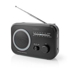 NEDIS RDFM1330GY FM / AM Radio 1.8 W Carrying Handle Grey / Black | ΕΙΚΟΝΑ / ΗΧΟΣ | elabstore.gr
