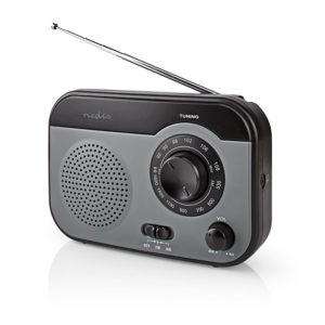 NEDIS RDFM1340GY FM / AM Radio 1.8 W Carrying Handle Grey / Black | ΕΙΚΟΝΑ / ΗΧΟΣ | elabstore.gr