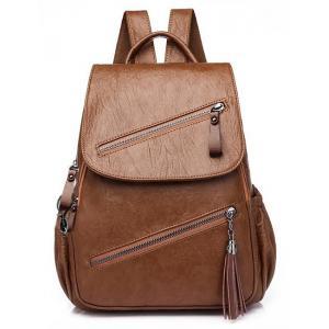 Γυναικεία τσάντα πλάτης LBAG-0001, καφέ | Οικιακές & Προσωπικές Συσκευές | elabstore.gr