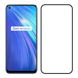 POWERTECH Tempered Glass 5D, full glue, Realme 6 2020, μαύρο | Αξεσουάρ κινητών | elabstore.gr